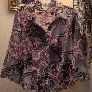 Tops - Pink/tan blouse